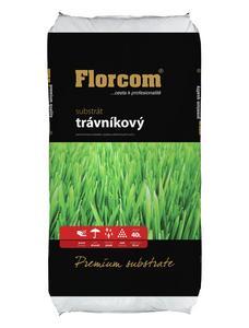 florcom Substrát trávnikový s kremičitým pieskom Premium 40l