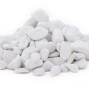 Thassos mramor/biela farba/omieľaný/4-8cm