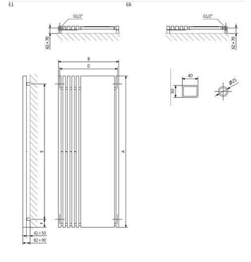 radiator TERMA Triga M